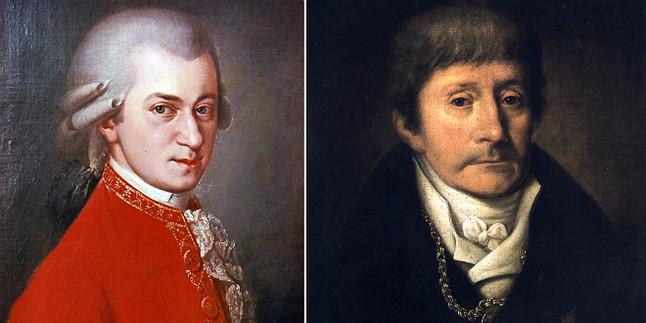 Wolfgang Amadeus Mozart y Antonio Salieri