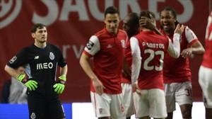 Iker Casillas, tras encajar el tercer tanto del Braga