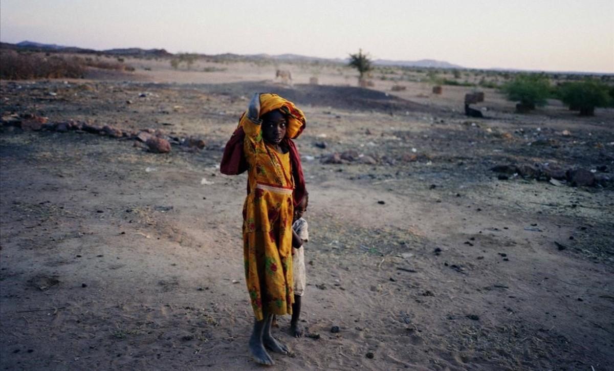 Foto de Stanley Greene de la catástrofe humanitaria de Darfur.