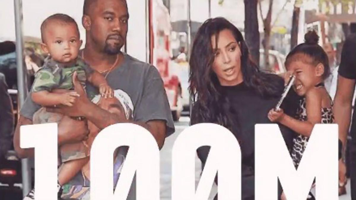 Una de las estampas familiares que ha colgado Kim Kardashian para celebrar sus 100M de seguidores en Instagram.