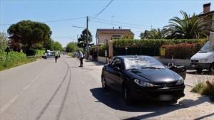 El coche que embistió a Hayden, en el lugar del accidente