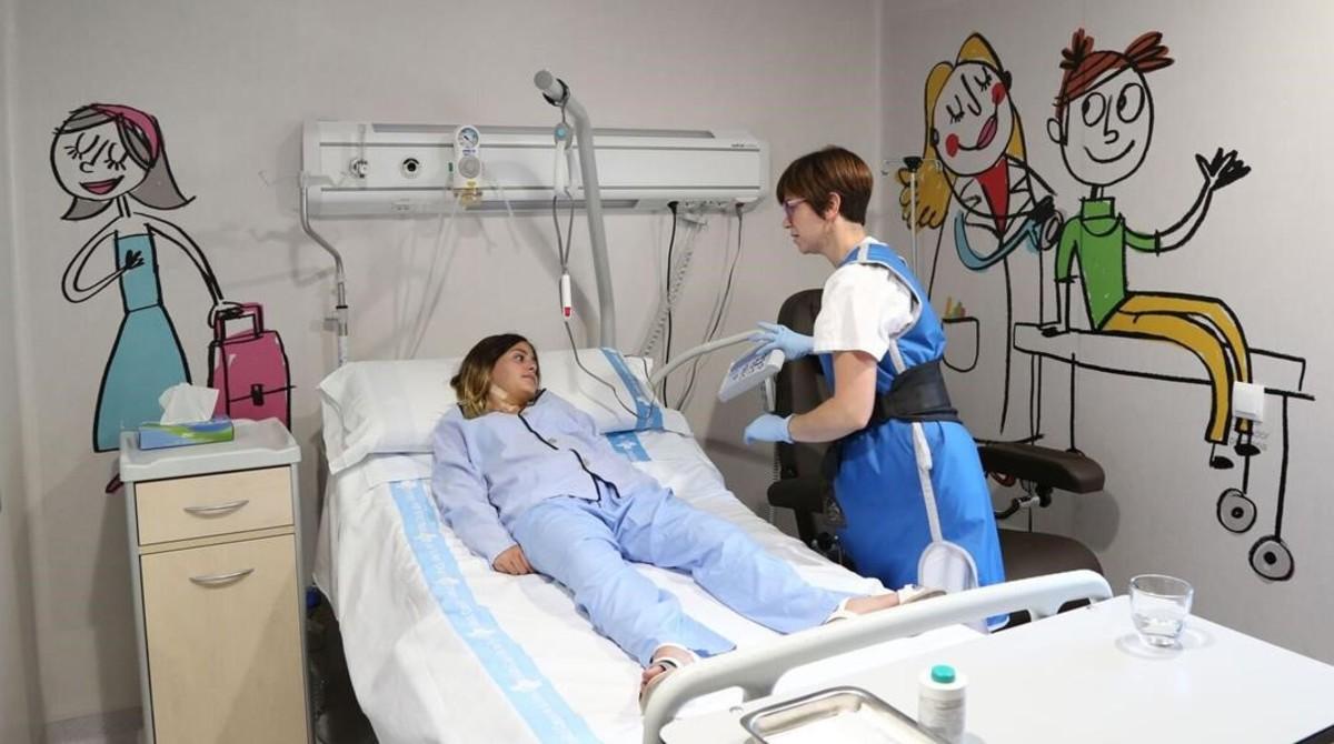 Nueva unidad pediátrica de terapia de medicina nuclear en Vall dHebron para tratar el cáncer.