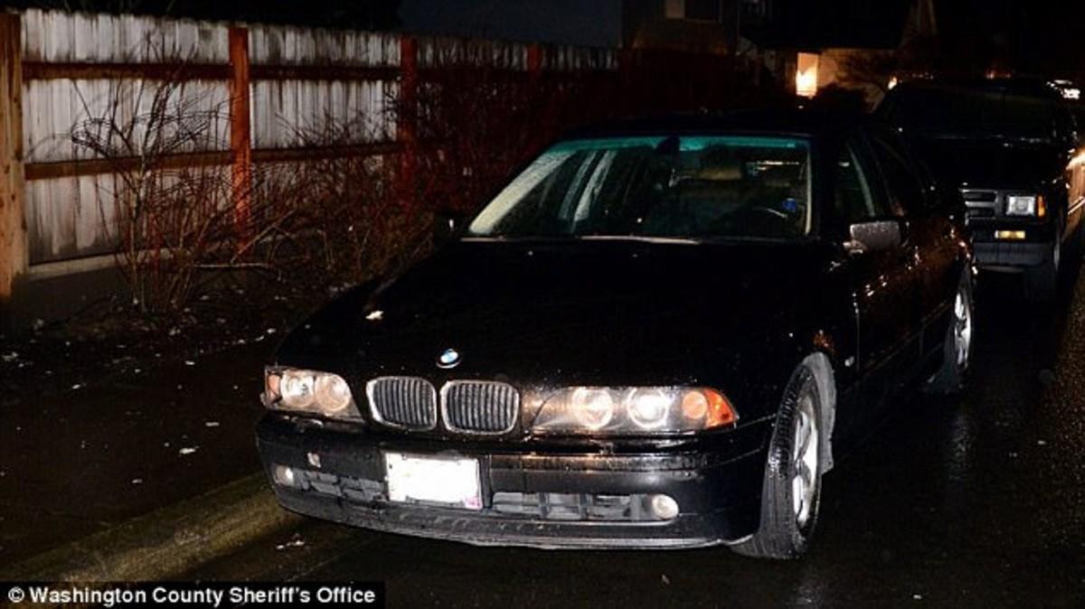 El cuerpo descuartizado de Zghoul fue hallado en dos maletas en el maletero de este BMW.