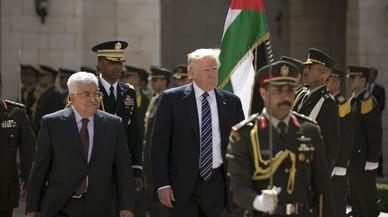 Trump evita hablar de la solución de dos estados en su encuento con Abbás