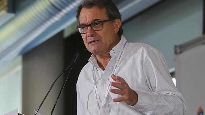 Artur Mas, durante su intervenci�n ante el Consell Nacional de Converg�ncia.
