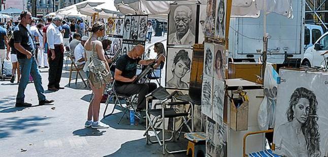 Pintores de la rambla rechazan examinarse - Pintores de barcelona ...