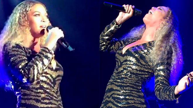 Beyonc� cant� por Whitney Houston, en el festival del cole de su hija.