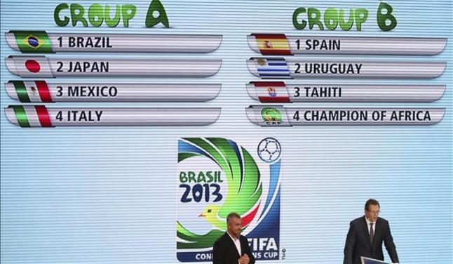Espa�a esquiva a los rivales m�s duros en la Copa Confederaciones