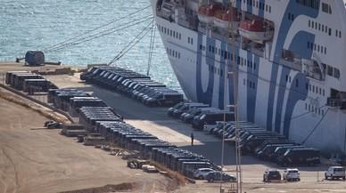 El despliegue de la policía en el puerto de Barcelona por el 1-O, en vídeo