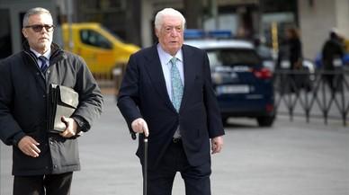 Macià Alavedra entra, este jueves, en la Audiencia Nacional.