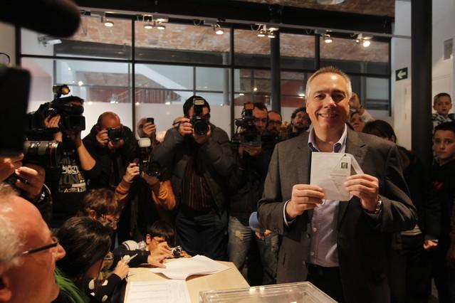 "Pere Navarro vota con ""fant�sticas sensaciones"""