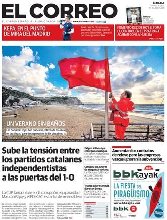El Gobierno asume el control en El Prat, titula 'Abc', como si no lo tuviera
