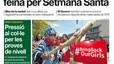 """""""L'hostaleria impulsa l'ocupació per Setmana Santa"""", a la portada d'EL PERIÓDICO DE CATALUNYA"""