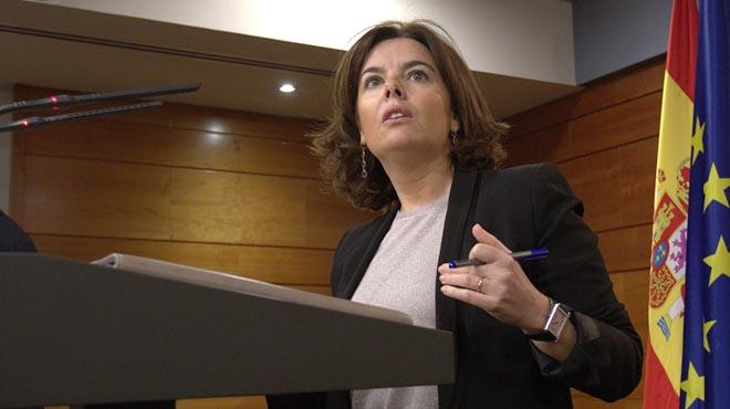 Santamaría ve clima preelectoral en Catalunya