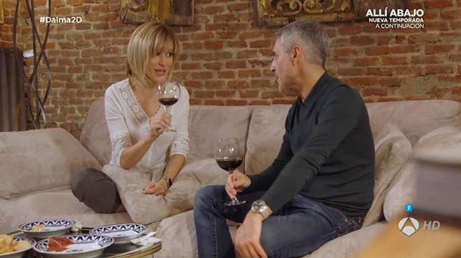 Susanna Griso y Sergio Dalma, en 'Dos dias y una noche', de Antena3.