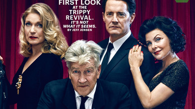 Detalle de una de las portadas de 'Entertainment Weekly' con el director David Lynch y algunos de los actores de la nueva entrega de 'Twin Peaks'.
