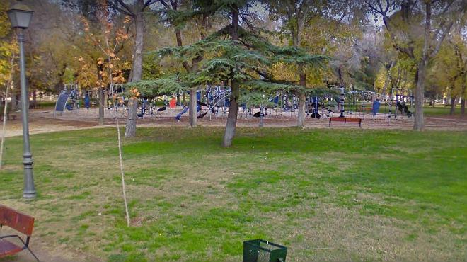 Zona infantil en el parque Emperatriz María de Austria.
