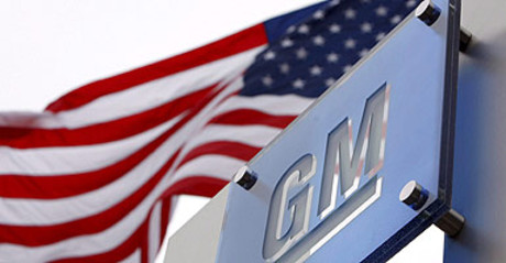 Logo de General Motors en la sede de la compa��a en Detroit, Michigan (Estados Unidos).