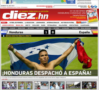 Portada del diario digital 'Diez'