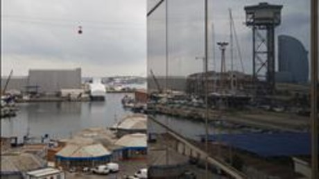 Zona del Port Vell de Barcelona en transformaci�n. ALBERT BERTRAN