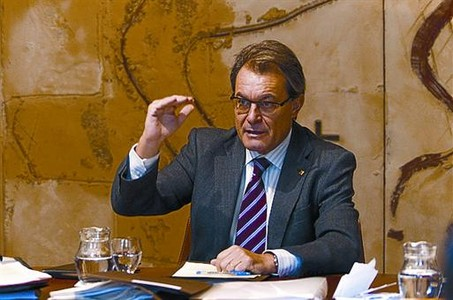 El 'president', Artur Mas, en la reunin semanal del Govern, ayer.