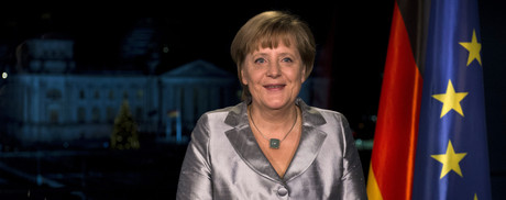 AngelaMerkel, durante su discurso institucional de fin de ao.  