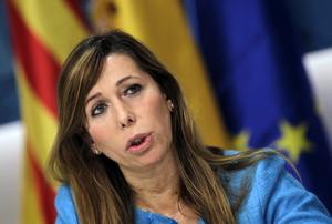 La presidenta del PPC, Alicia Sánchez-Camacho, durant lentrevista