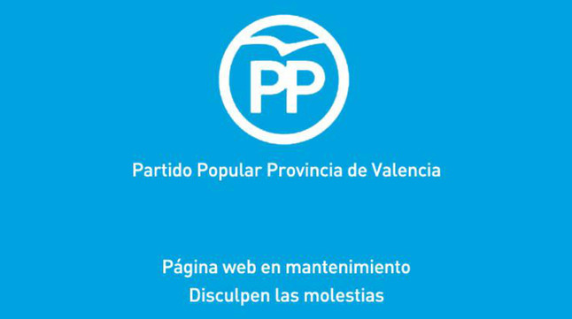 Portal web del PP de Valencia