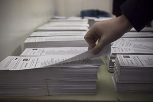 Papeletas de una mesa electoral