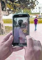 Pokémons en Lafayette Park (Washington).