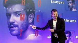 Pablo Alborán, el viernes en Madrid, donde presentó su neuvo disco Prometo