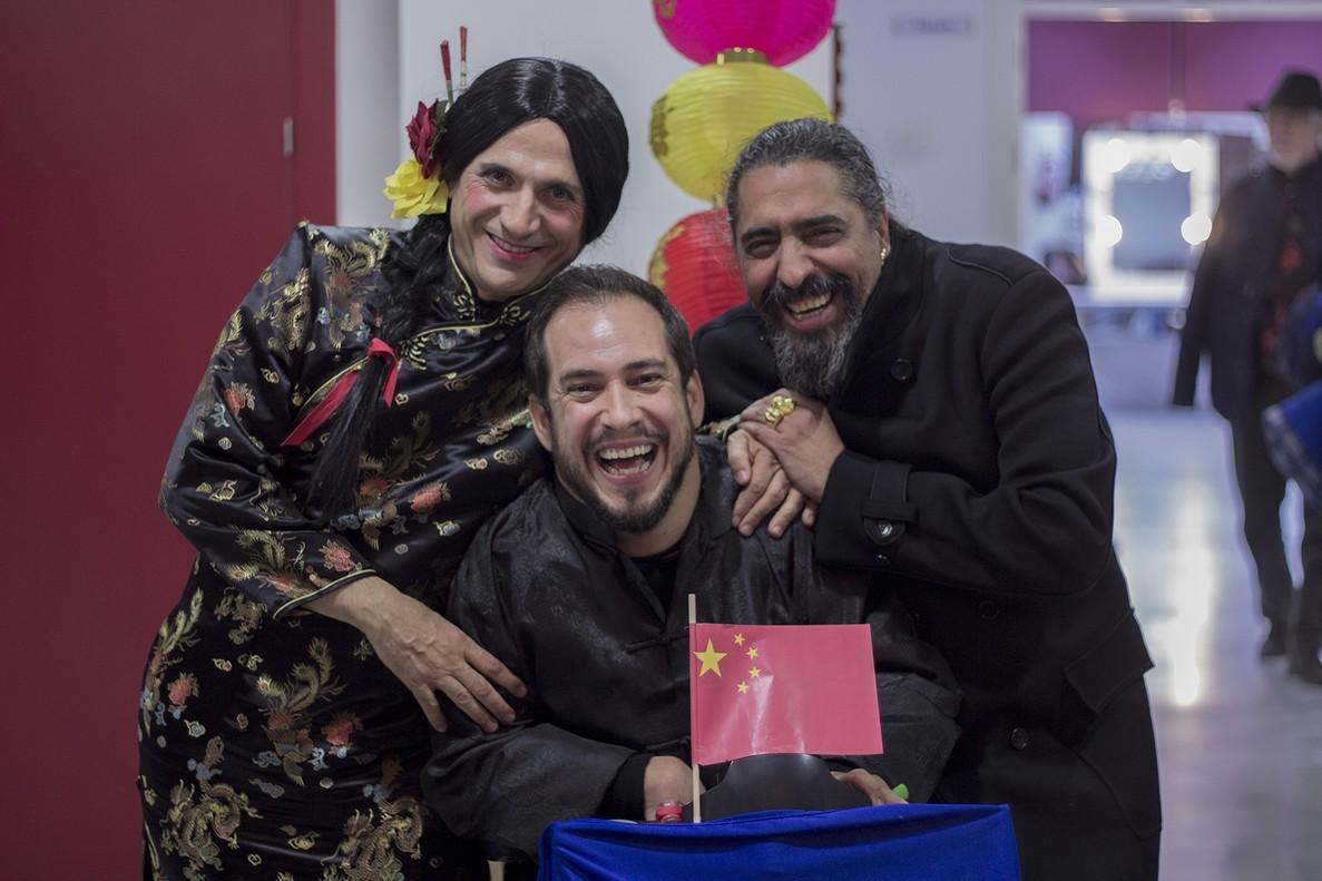 José Mota, con El Langui y El Cigala, en el especial de Nochevieja de TVE-1