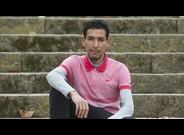 El atleta espa�ol de origen marroqui Ayad Lamdassem, en Montjuic.
