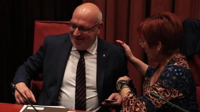El conseller de Empresa i Coneixement, Jordi Baiget, en el Parlament.