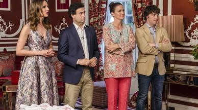 Eva Gonz�lez, Pepe Rodr�guez, Samanta Vallejo-N�gera y Jordi Cruz, en la final de la cuarta temporada de 'Masterchef'