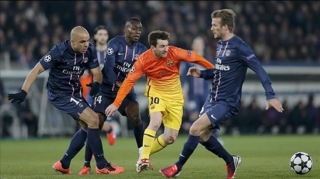 Leo Messi, durante un partido en Par�s