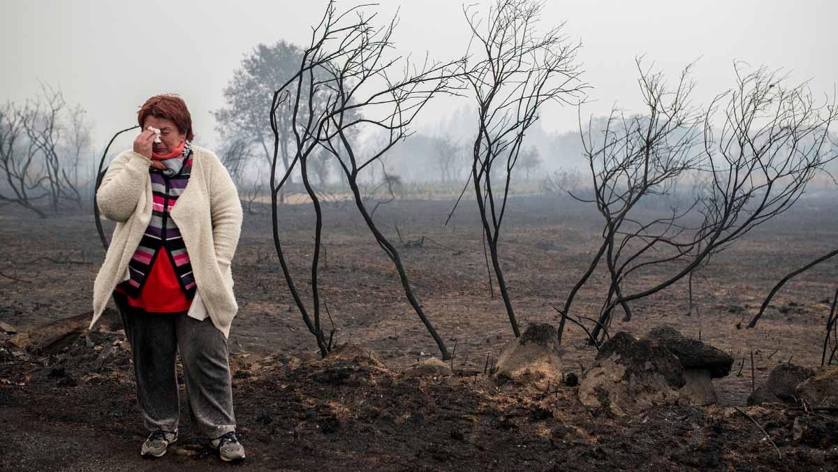 La ola de incendios deja cuatro muertos en Galicia