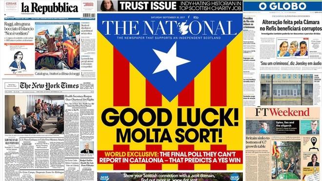 prensa internacional pendiente referéndum catalunya