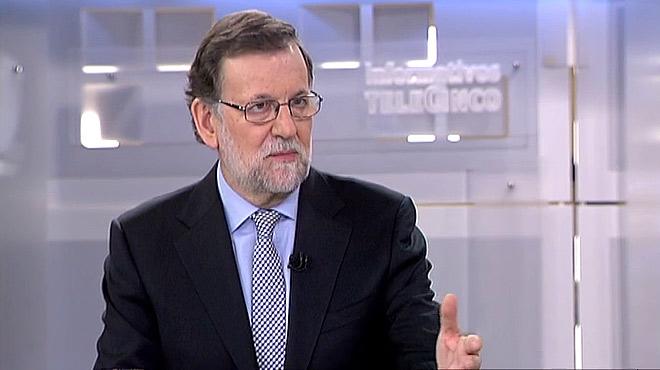 """Fragmento de la entrevista de Mariano Rajoy en Telecinco. El presidente en funciones asegura: """"No hemos tomado medidas en Valencia porque no ten�amos ni idea""""."""