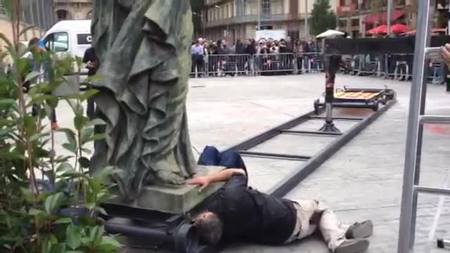 Els atacs a l'estàtua de Franco s'incorporaran a l'exposició del Born