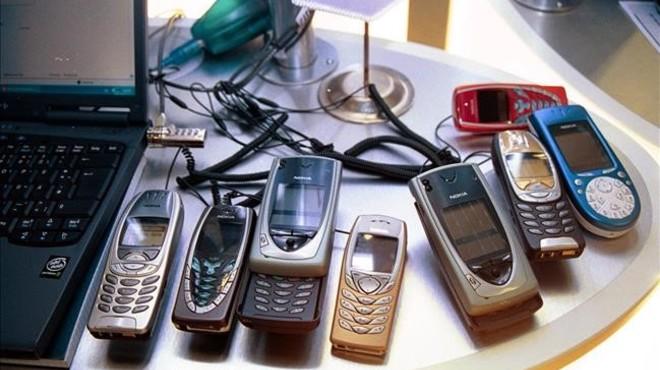 Tel�fonos m�viles Nokia antiguos.