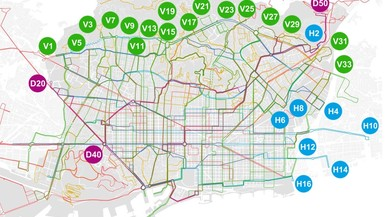 El nuevo mapa de la red de bus de Barcelona tendrá 97 líneas