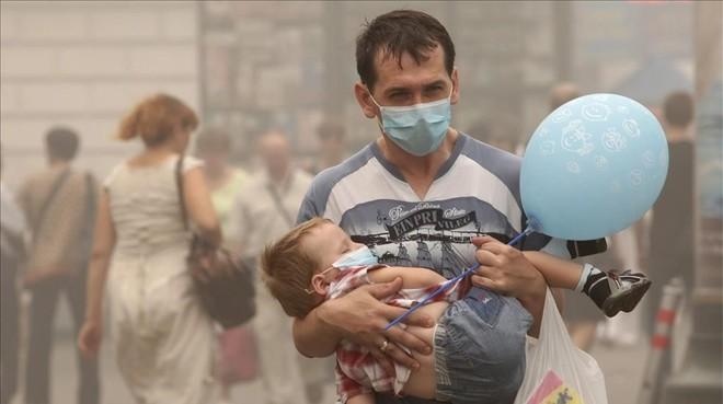 Episodio de contaminación en Moscú.
