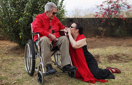 Chavela Vargas y Martirio, en Tepoztlan (Mxico), en abril.