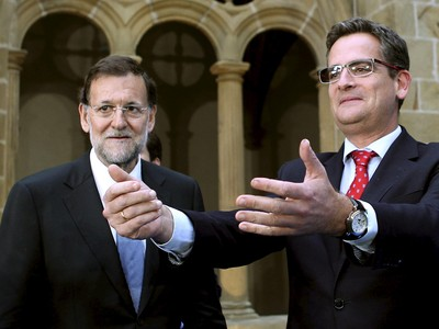Mariano Rajoy y Antonio Basagoiti.