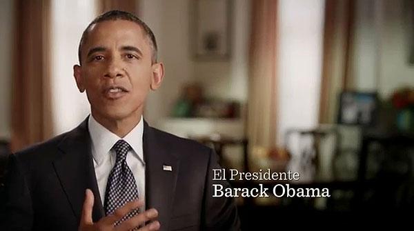 Obama habla en español en un anuncio de televisón