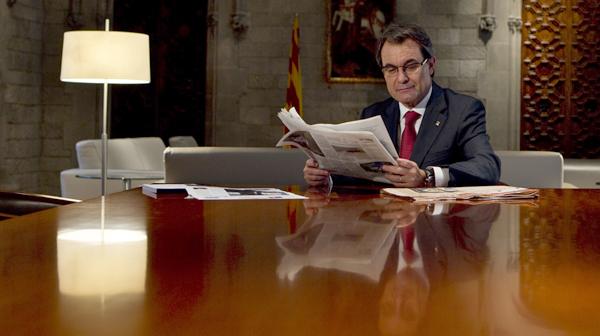 Extracte de l'entrevista amb Artur Mas, president de la Generalitat.