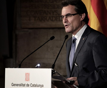 El presidente de la Generalitat de Catalunya, Artur Mas.