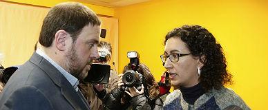Oriol Junqueras y Marta Rovira, en una imagen de archivo.