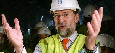 Rajoy, durante una visita de obras en Madrid.